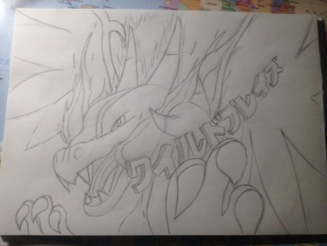 Charizard sketch by Phil-San31