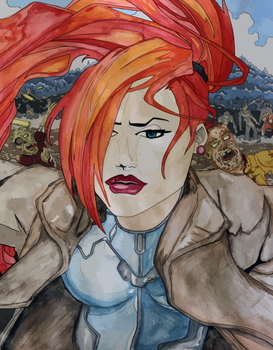 Elsa Bloodstone (watercolor and Copic) by R1VENkassle