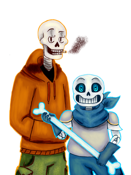 Underswap AU - Sans and Papyrus by EccentricElla