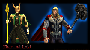 Thor and loki by andrewbaay