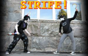 STRIFE! Gamzee and Karkat by The-White-Death
