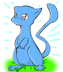 A Blue Mew by StarrySkyDragon