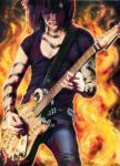 Jinxx and the Ouija Board Guitar by Cynthia-Blair