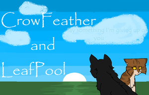 Crowfeather and Leafpool by BlackWolfXP