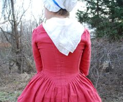 1770's Rose Gown Back Detail by Goldenspring