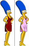 Marge in red and pink lingerie by Homey104