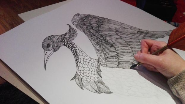 Crain/Fantasy bird WIP by Kimmie1997