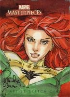 Phoenix Sketch Card - Comicon by RandyGreen