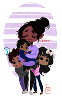 Cutie Kids Plus Tired Asf Mom commision by temporaryWizard