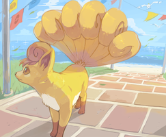 shiny vulpix by HeartGold