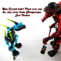 Bionicle MOCkery One Off: Sky Blue. by 3rdeye88