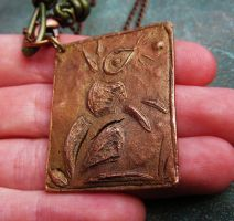 Copper Bunny Necklace by SadiesAccessories