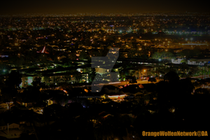 Los Angeles Night Fall by OrangeWolfenNetwork