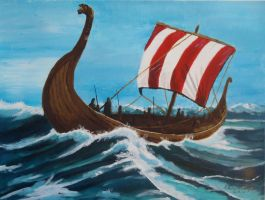 Viking longship by Nikko707