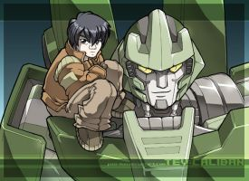 Something mecha - Tev and Cali by juzo-kun