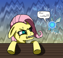 Fluttershy and Navi by Super-Zombie