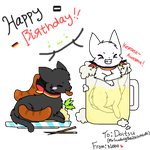 ::Gift:: Happy Birthday~ |D by nekocookies