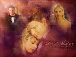 Buffy and Angel wallpaper by Fidelian