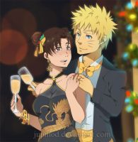 NaruTen: Toast to the Holidays (Close-up) by JuPMod
