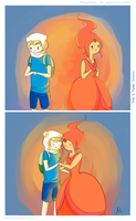 Finn and Flame Princess by TheEpikDango