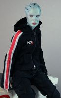 N7 hoodie on Asari figure by redner
