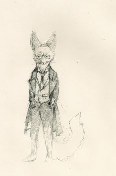 A Fox With Glasses by Zethelius