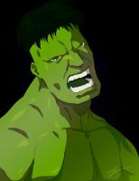 The incredible hulk colour by Link-artist