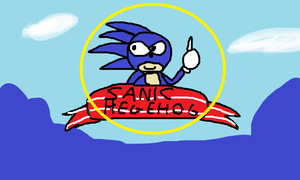 SANIC HEGEHOG ON SAYGUH MUGADROVE by PoisonLuigi