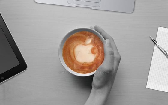 coffee with iDevices by WallforAll