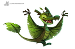Daily Painting #934. Arboreal Dragon by Cryptid-Creations