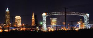 Cleveland Skyline - Bridges by Zephania