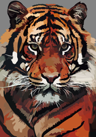 Sumatran tiger  vector - wild life version by elviraNL