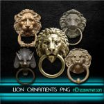 Lion ornament doorknobs png by M10tje