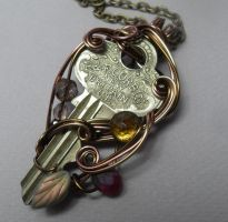 Key to Autumn Necklace by sojourncuriosities