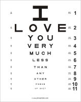 eye chart by Philophobos