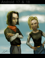 Android 17 and 18 by sethshwan