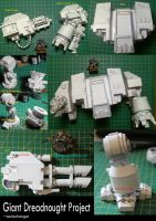 WIP Giant Papercraft Dreadnought by zedarkangel