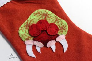 Metroid Collage on a Stocking by MeMiMouse