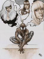 Spiderman and the girls by jefterleite