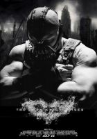 Bane Dark Knight Rises poster by IGMAN51
