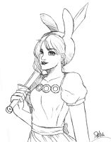 Sketch-Adventure Time/Fionna by DeluCat