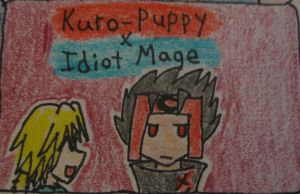 Kuro-puppy x Idiot mage by UkeVash