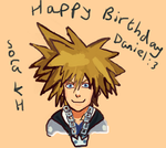 Belated Birthday Gift-Sora from Kingdom Hearts :) by Fran48