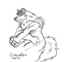 werewolfish sketch by Blackwerewolfhero