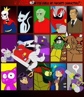 Favorite Characters Meme - Antagonistic Edition by DynamiteManEXE