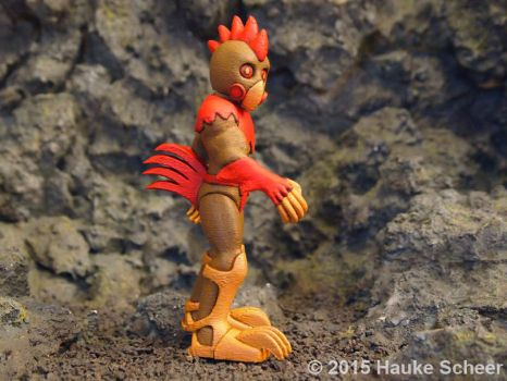 Raging Rooster 3D printed B by hauke3000