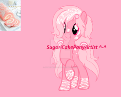 Pink Cake Roll Themed Custom For Galaxie-Chan! ^^ by SugariSweetLolita