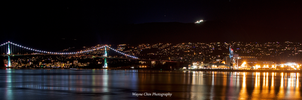 Lion's Gate Bridge at Night 02 by wayner8088