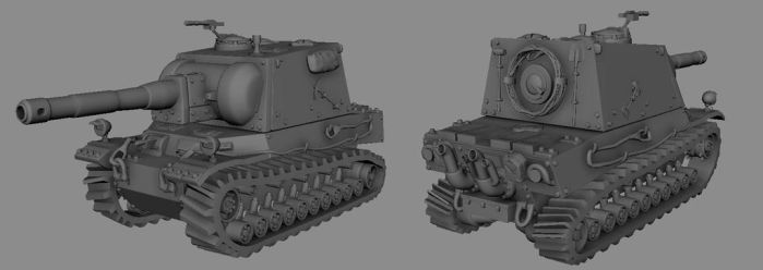 Heavy Tank model by Henskelion