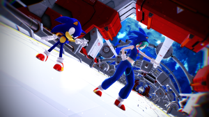 MMD: Hatsune Miku and Sonic The Hedgehog Galaxias by BluexBlur